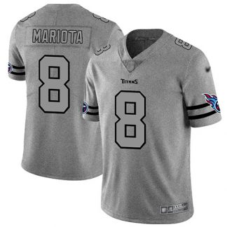 cheap nfl jerseys ebay Men\'s Tennessee Titans #8 Marcus Mariota Gray Stitched Limited Team Logo Gridiron Jersey authentic nfl jersey cheap