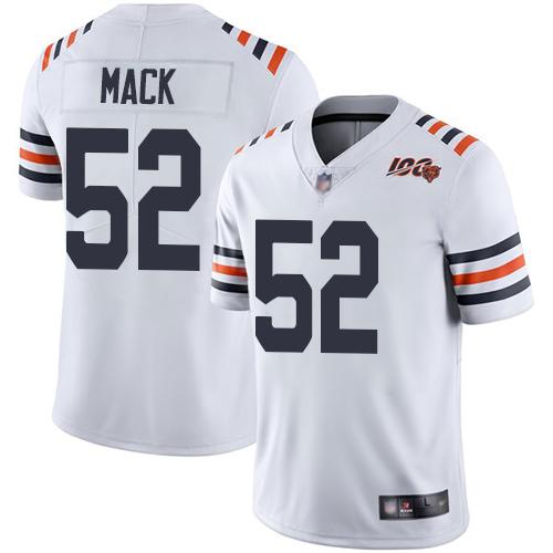 cheap nfl jerseys in usa Bears #52 Khalil Mack White Alternate Men\'s Stitched Vapor Untouchable Limited 100th Season Jersey buying football jerseys ...