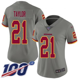 where to get cheap nfl jerseys Women\'s Washington Redskins #21 Sean Taylor Gray Stitched Limited Inverted Legend 100th Season Jersey official nfl ...